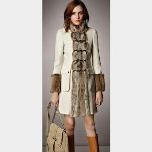 Karen Millen Fur Trimmed Coat